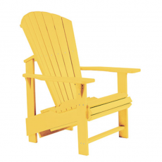 Alsterstuhl Aufrecht gelb